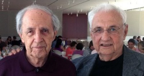 Pierre Boulez (left) and Frank Gehry