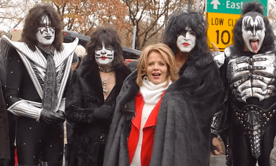 Renée Fleming with KISS at the Macy's Thanksgiving Parade