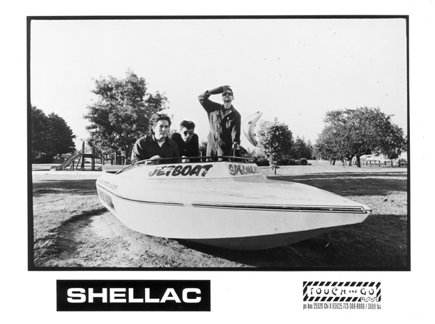 Steve Albini, standing, with Shellac