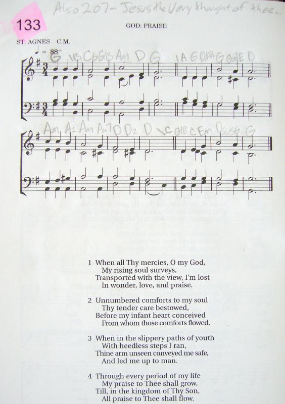 My 2002 Christadelphian Green Hymn Book with Guitar Chords
