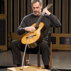 Classical Guitar Chair Cheap Lawn Chairs Los Angeles Takes Center Stage For Usc Thornton Paul Galbraith Plays His Distinctive Eight String Brahms Photo Peter Mackay
