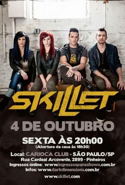 skillet no Brasil - cartaz