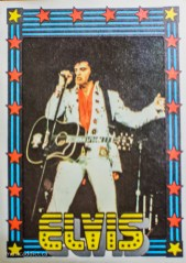 Not part of the set, but I kept it with the others. The King did rock cards before anyone else. No idea where that one came from.