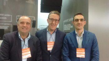 Gonzalo Aguirre, Manuel Peris (CEO) e Eduardo Lopez