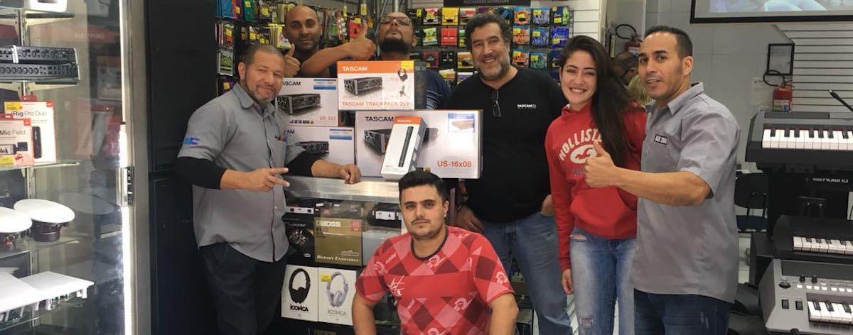 Ninja Som é revenda exclusiva da Tascam para São Paulo - Música & Mercado
