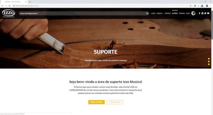 site izzo suporte copia