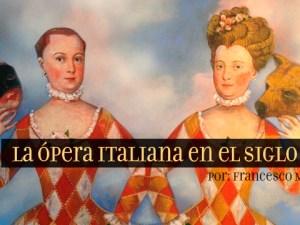 la ópera italiana en el siglo XVII