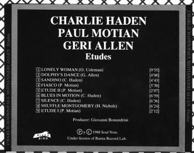 Charlie Haden, Etudes back