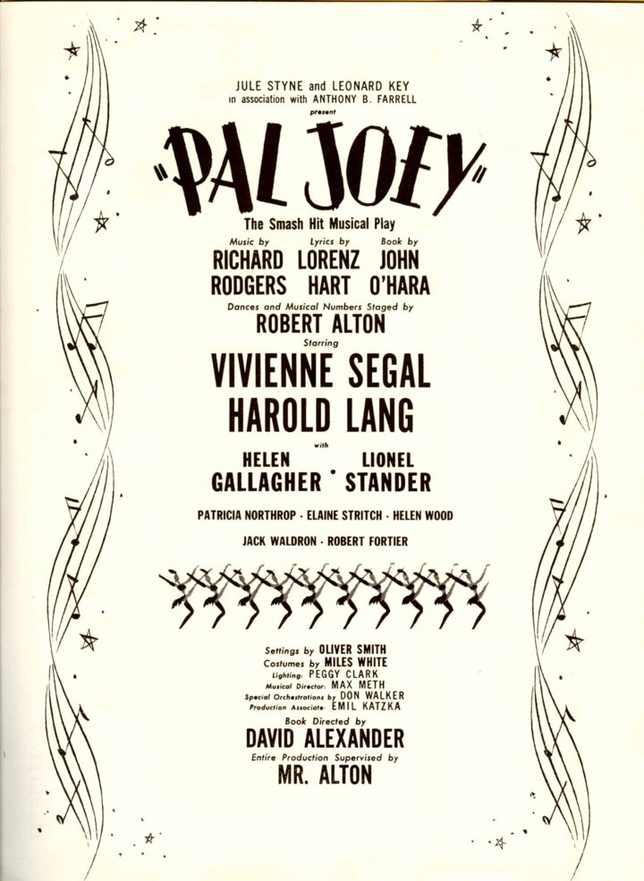 Pal-Joey_souvenir-program_1952_pg1