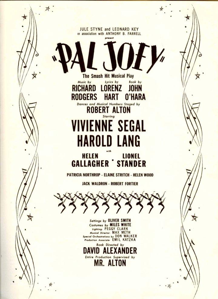 Pal-Joey_souvenir-program_1952_pg1