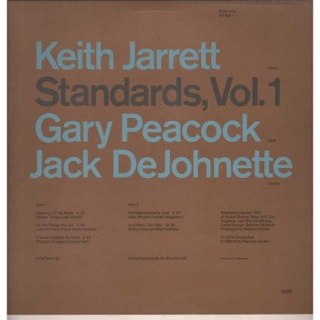 Keith Jarrett, Standards vol 1 back