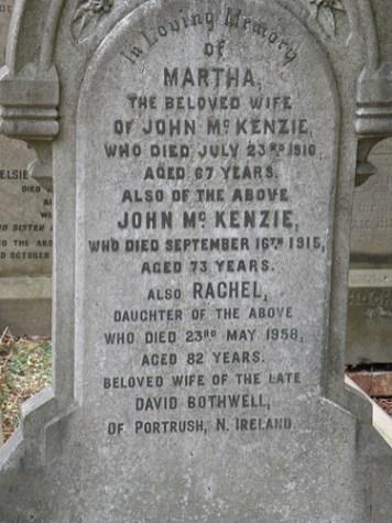 Mckenzie tombstone