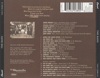 The Band, back cover