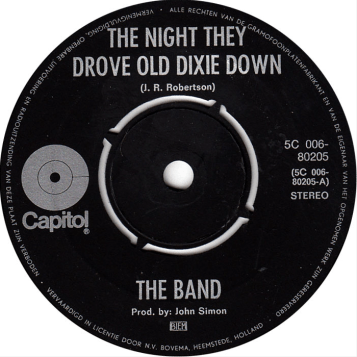 The Night They Drove Old Dixie Down single