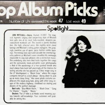 Billboard Top Album Picks December 1976