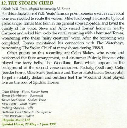 The Stolen Child Credits