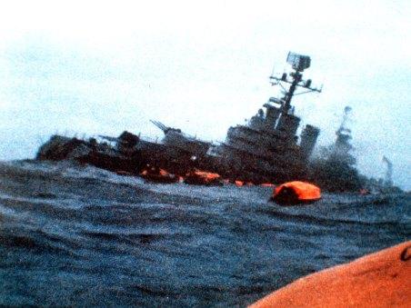 The Belgrano sinking