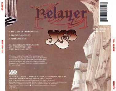 Yes Relayer back