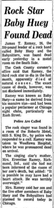 Baby Huey Chicago Tribune Obituary