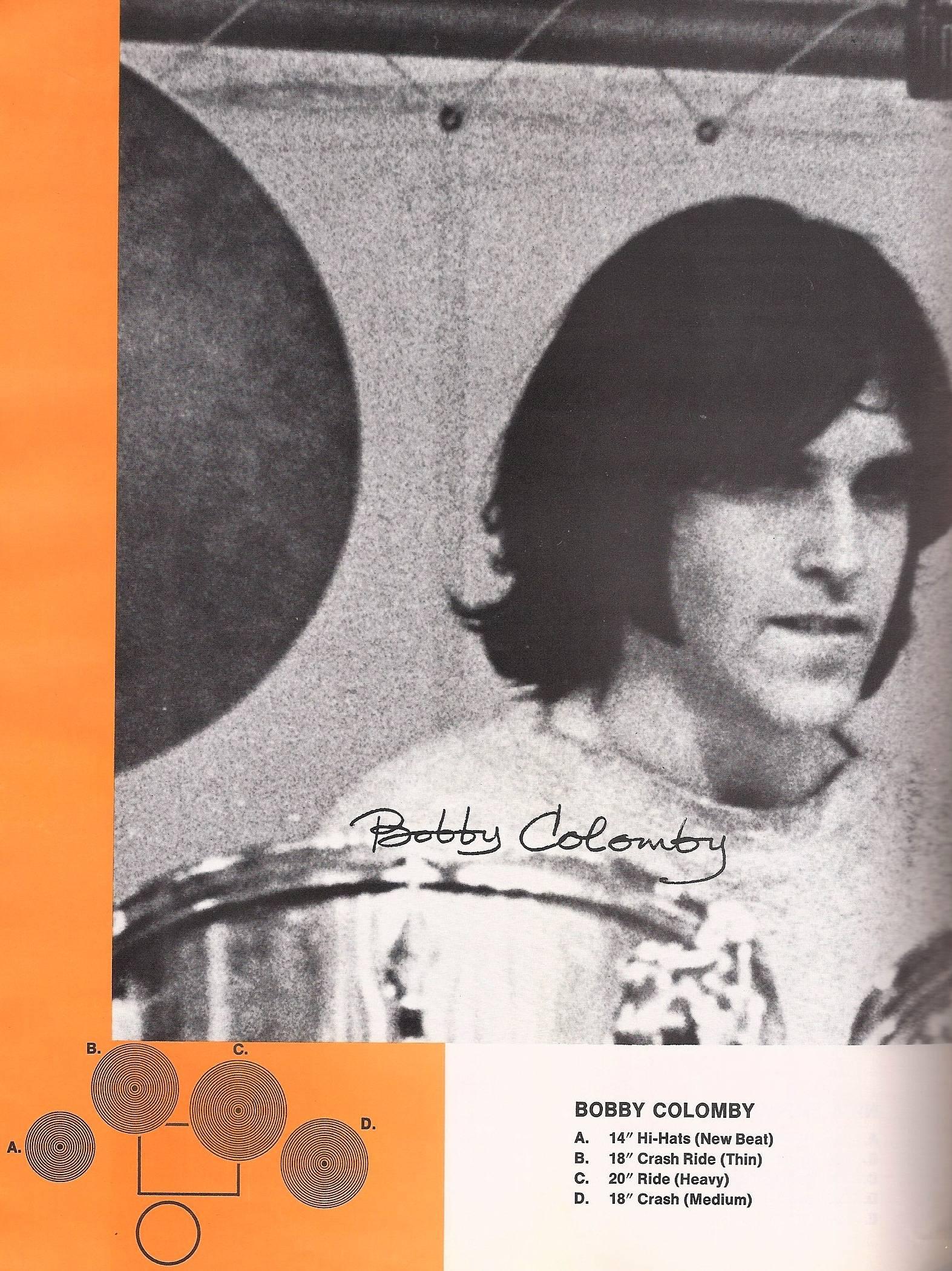Bobby Colomby on the Zildjian catalog 1969