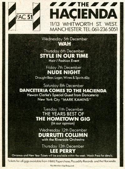 Hacienda December 1984