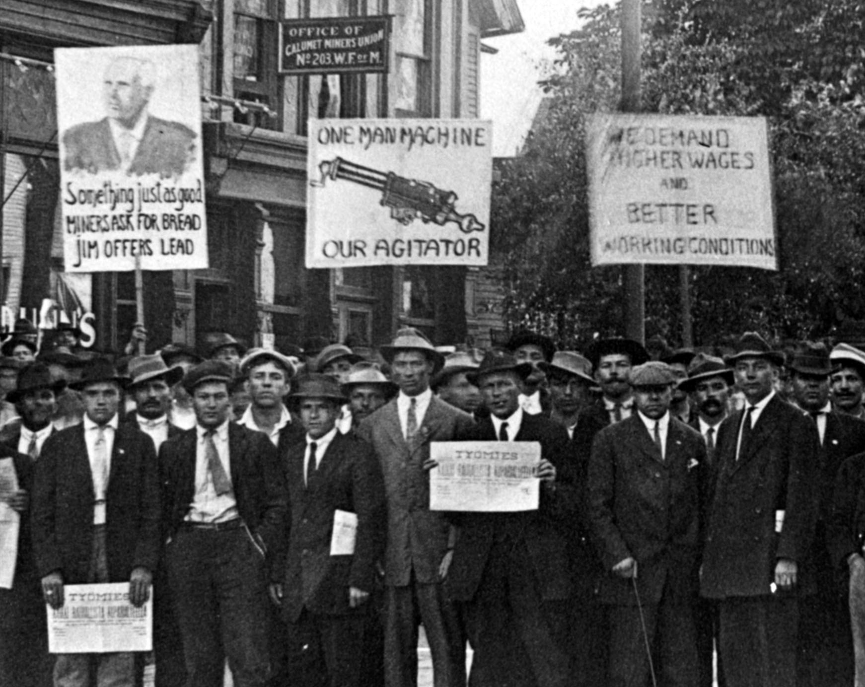 Michigan Miners Strike 1913