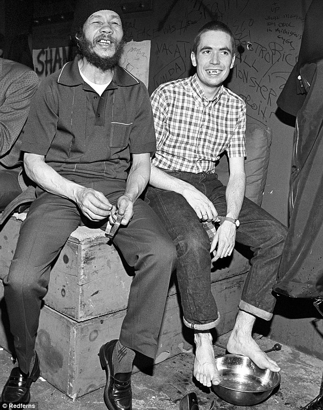 Rico Rodriguez in 1980 with Jerry Dammers