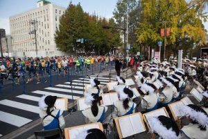 清教学園吹奏楽部 大阪マラソン2016