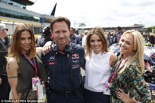 Melanie C Christian Horner Geri Halliwell Emma Bunton Formula 1