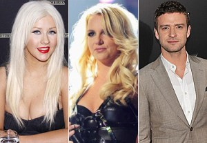 Christina Aguilera  Britney and Justin Timberlake realeza do pop