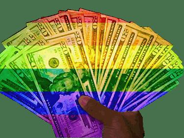 dinheiro gay