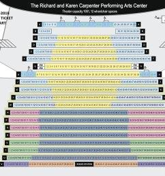 carpenter performing arts center seating chart [ 1152 x 896 Pixel ]