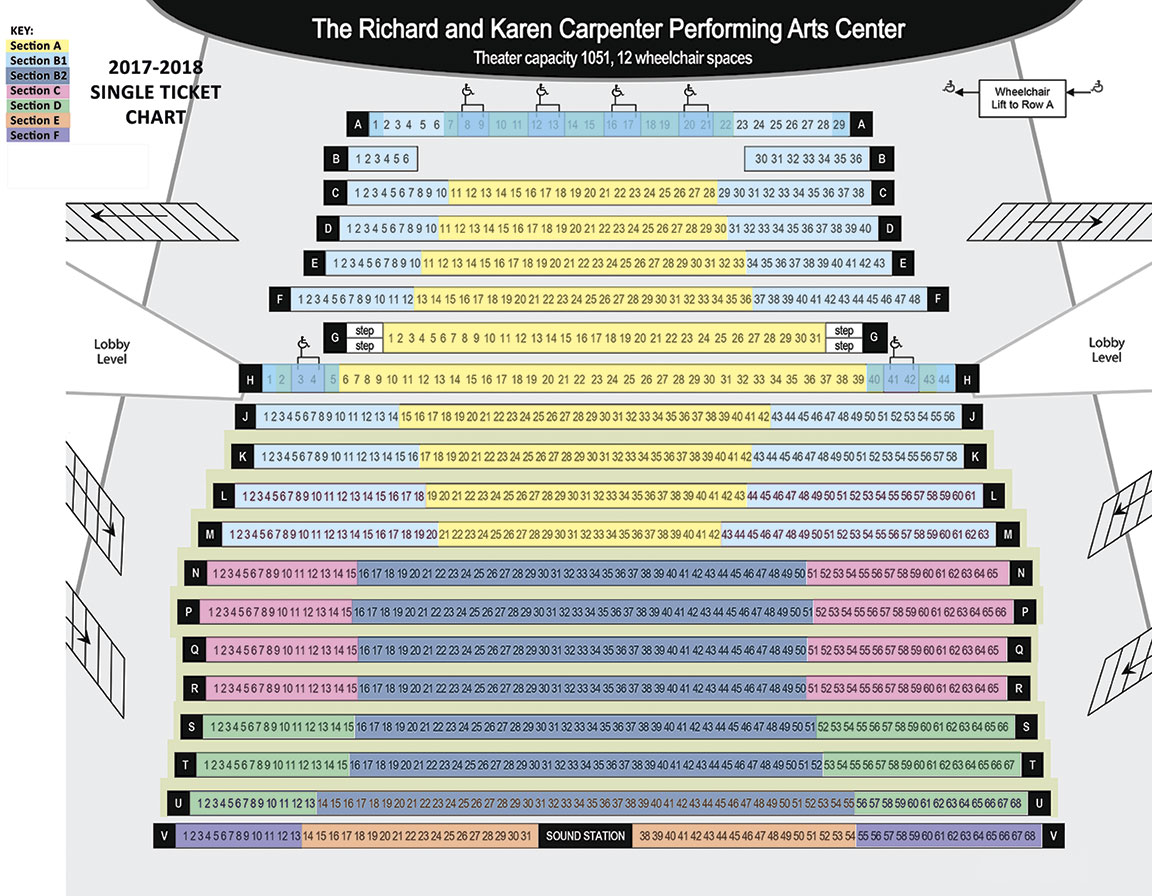 hight resolution of carpenter performing arts center seating chart