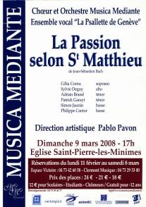 _2008-03-09 Concert Clermont-Ferrand Affiche