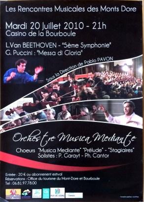 _2010-07-20 Stage été Concert Le Mont-Dore Affiche