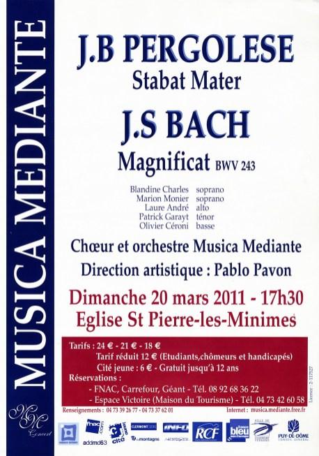 _2011-03-20 Concert Clermont-Ferrand Affiche