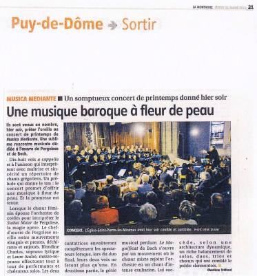 _2011-03-20 Concert Clermont-Ferrand Article La Montagne