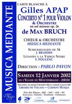 _4 - 2002-01-12 Concert Clermont-Ferrand Flyer