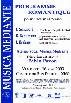 _6 - 2003-05-16 Concert Clermont-Ferrand Flyer