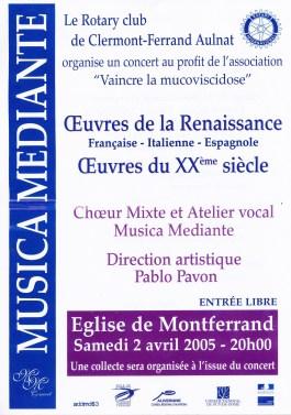 _6 - 2005-04-02 Concert Clermont-Ferrand Affiche