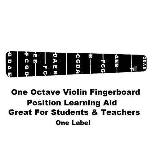 1 Violin Fiddle Fingerboard Fret guide Label Finger Chart