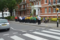 Performing in London's Abbey Road as part of the Cultural Olympiad