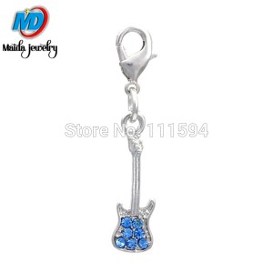 new design Blue crystal electric guitar dangles Musical