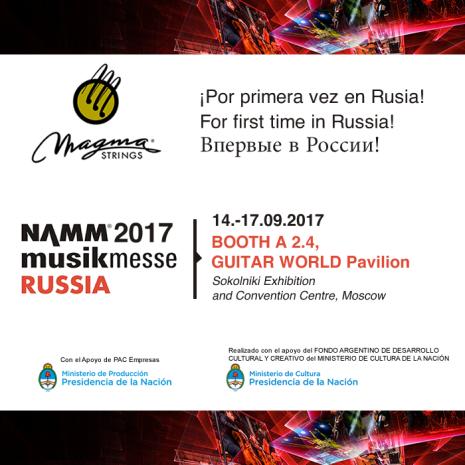 Posteo NAMM MUSIKMESSE RUSSIA -MAGMA