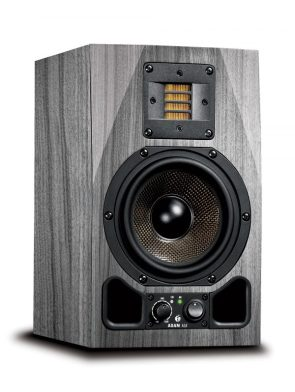 adam audio ax studio monitor mock up grey wood