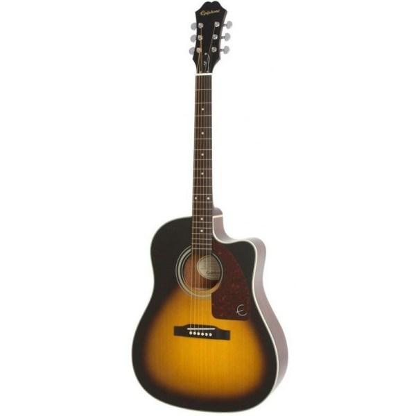 Guitarra acústica epiphone aj210ce vintage sunburst