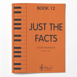 Piano Theory Worksheets Piano Theory Workbook Just The Facts Book 12