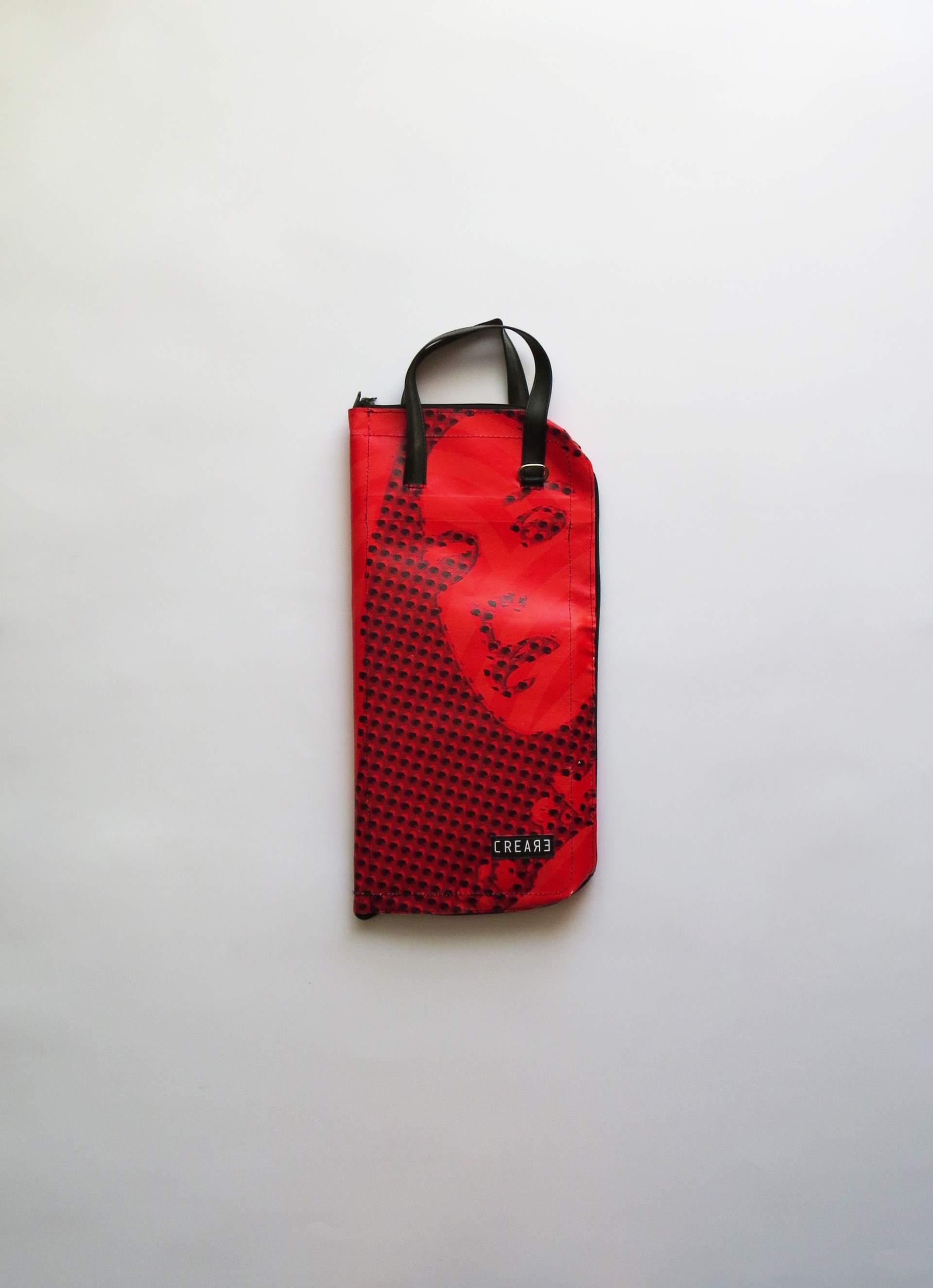 Eco handcrafted drumsticks bag rainproof musicbags.crea-re.com 2:23 front