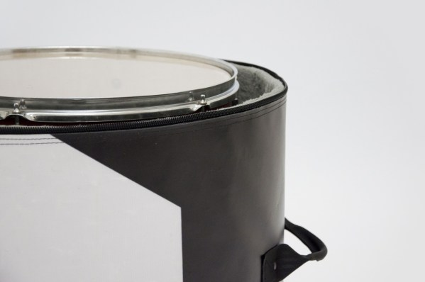 detail of Floor tom bag from handcrafted drum set bag by music bags.crea-re.com