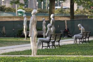 Sculptures in Solti Garden